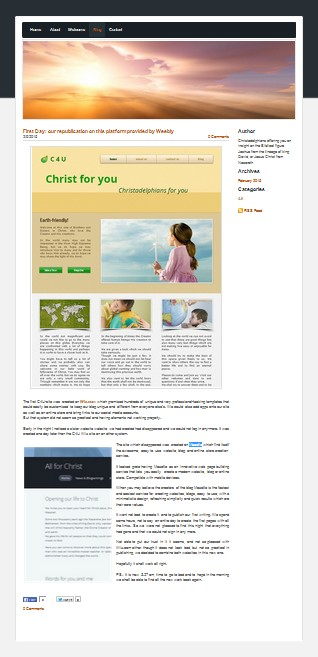3 unsuccessful website presented together on C4U & U4C: Christ for you and You for Christ