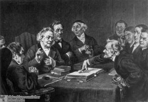 Otto Günther, Disputatious Theologians [Disputierende Theologen] (1876)
